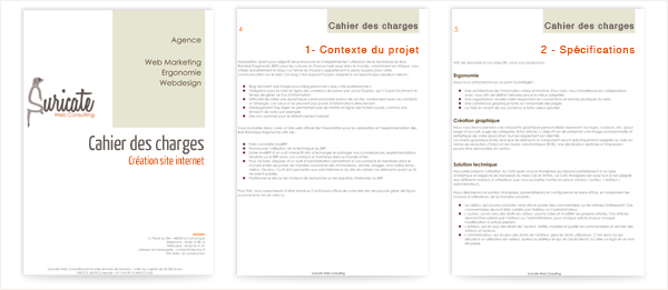 Cahier des charges Albi Tarn